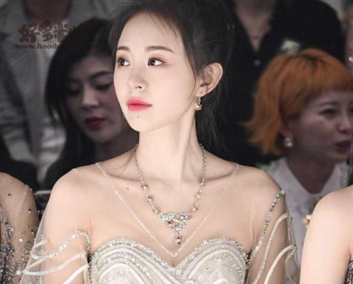 孙耀琦美照 着一身银线纹薄纱长裙整个人熠熠生辉